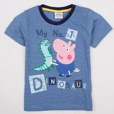 Peppa pig boys summer clothes with cute cartoon logo factory price