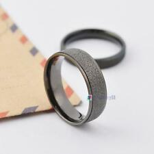 Fashion Couples Lovers Rings Black Grind Arenaceous Rings Size 4 5 6 7 8 9 10