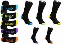 5 DAYS OF WEEK SOCKS COTTON PACK 6-11 EVERYDAY NOVELTY FUNNY GIFT WOMENS MENS