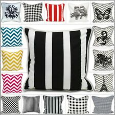 "Black & White Stylish Cushion Cover 100% Cotton Pillow Case 18""x18"" (45 x 45cm)"
