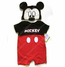 Disney Baby Boy Mickey Mouse Romper one piece with Hat Set