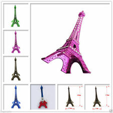 Alloy Rhinestone Paris Eiffel Tower Miniature Statue Model Decoration Decor 13cm