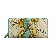 Roberto Cavalli Snake Skin Purse Light Blue