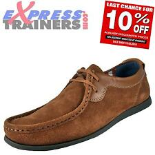 Base London Mens Catch Suede Leather Moccasin Casual Shoes Brown * AUTHENTIC *