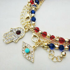 Women's fashion Jewelry charm hamsa hand Lucky Evil Eye Beads Bracelet