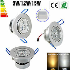 LED Ceiling light Spotlight Downlight 9W 12W 15W Recessed Warm Day White Lamp