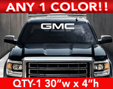 """GMC WORD SOLID WINDSHIELD DECAL 30""""w x 4""""w ANY 1 COLOR"""