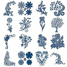 FLORALS + FLOWERS Tattered Lace Metal Dies Stephanie Weightman Craft Cut Card