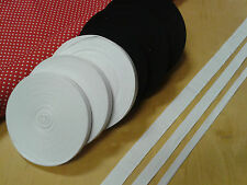 COTTON BUNTING/APRON TAPE-BLACK OR WHITE, 13mm,19mm OR 25mm WITH