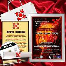 SITH LORD CERTIFICATE + FREE GAME! Upgrades available! Beautifully presented!