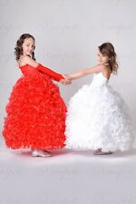 NEW 2014 Flower Girl Pageant Ball gown 3T,4T,5,6,7,8 Item 200