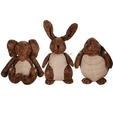 Animal Faux Leather & Suede Cute Doorstops in Rabbit Turtle & Elephant Design