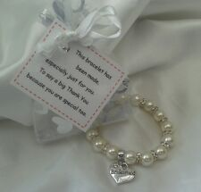 Bridesmaid thank you bracelet & poem card - adult - Childrens Gift - Wedding