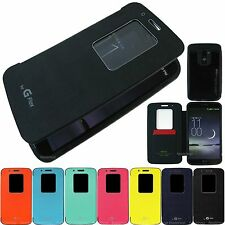 For LG G-flex cover leather anti-shock magnetic flip Quick window view case skin