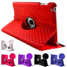 360° 3D Pattern Leather Rotate Book Stand Case Cover For New Apple iPad Air 5 UK