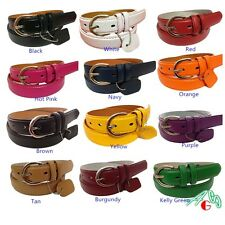 WOMEN/LADIES Skinny Leather Belt  SIZE S M L XL $4.99 FREE SHIPPING