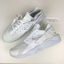 "NEW NIKE AIR HUARACHE ""TRIPLE WHITE/PURE PLATINUM"" UK 6 7 8 9 10 11 12 13 BLACK"