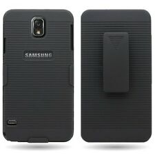 BLACK SHELL COMBO CASE COVER HOLSTER BELT CLIP KICKSTAND for SAMSUNG GALAXY S5