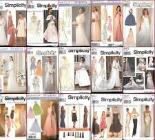 Simplicity Sewing Pattern Bridal Evening Gown Bridesmaid Prom Party Dress Formal