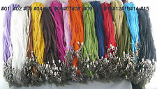 Wholesale 100pcs Organza Lobster Clasp Chain Voile String ribbon Cord Necklace