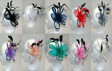 Organza/Feather Fascinator on Clip 10 Great Colours Wedding Race's Occasions