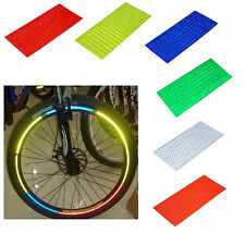Fluorescent Bike Bicycle Wheel Tire Rim Reflective Stickers Tape 6 Colors Safety