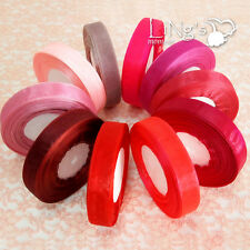 3mm 9mm 19mm 25mm 38mm Red Series Wedding Party Favour Organza Ribbon Decor