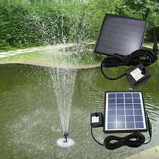 Outdoor Solar Power Panel Fountain LED Pump Submersible Waterproof Pond Pool