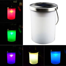 Outdoor Solar Power RGB LED Color Changing Light Lamp Pathway Landscape Lantern