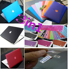 "3in1 For MacBook Pro 13"" Retina Matte Hard Case Keyboard Cover Screen Protector"