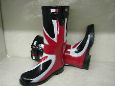Wellingtons Womens X1090 Funky Red White & Blue Union Jack Print Wellies