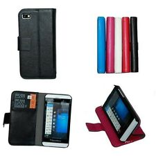 Luxury Flip PU Leather Wallet Cover Case for BlackBerry Z10 2-credit card Slots