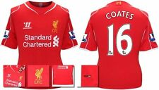 *14 / 15 - WARRIOR ; LIVERPOOL HOME SHIRT SS + PATCHES / COATES 16 = KIDS SIZE*