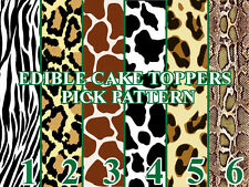 ANIMAL PRINT PATTERNS Edible image Cake toppers cupcakes, strips and more...