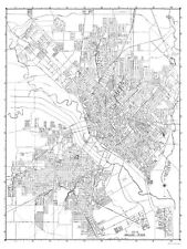 Old City Map - Dallas Texas - 1936 - 23 x 30.57