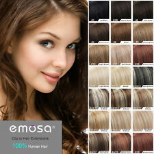 """Emosa 20"""" 22"""" Straight Clip In Remy Real Human Hair Extensions Wigs 8pcs 90g"""