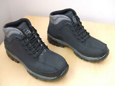 MENS BLACK LEATHER SAFETY STEEL TOE CAP WORK BOOTS TRAINERS GROUNDWORK FAB1