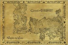 Poster Game Of Thrones - Antique Map