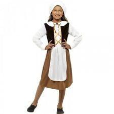 Kids Tudor Girls Medieval Fancy Dress Costume Book Week Outfit Age 4 - 12 44015