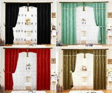 "[AMATERASE] HEAVY THICK THERMAL VELVET BLACKOUT CURTAINS SET W=87""~185"" M52-01"