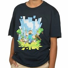 Minecraft Adventure Steve Officially Licensed Authentic Youth Kids Child T-shirt