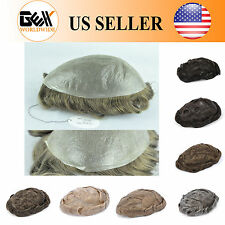 GEX 62Colors Toupee Mens Hairpiece MIRAGE Basement Human Remy Hair Replacement
