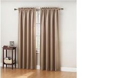 """NEW PAIR (2) TAUPE BLACKOUT CURTAINS 108""""W x 63""""L or 108""""W x 84""""L DRAPES WINDOW"""
