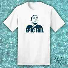 Epic Fail Funny Mens Political T SHIRT Anti Obama Politics Humor Graphic Tee