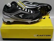 NEW in Box  Easton Phantom MD Team Baseball Metal Cleats Spikes BLACK  SIZE 9