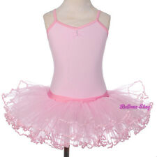 Rhinestone Pink Ballet Tutu Dance Costume Fairy Fancy Dress Sz 3 4 5 6 7 8 BA057