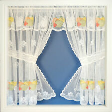 GRENADA Net Curtain Window Set Colourful Fruit Many Sizes & Colours Available