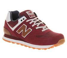 New Balance New Balance M574 MAROON NAVY BROWN Trainers Shoes