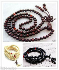 8mm Tibetan Buddhist 108 wood Prayer Bead Mala Necklace