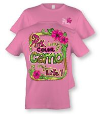 PINK IS MY COLOR CAMO IS MY LIFE Ladies T-Shirt ITSA GIRL THING S M L XL 2X